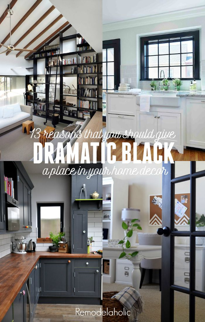 Decorating with black 13 ways to use dark colors in your for Your home decor