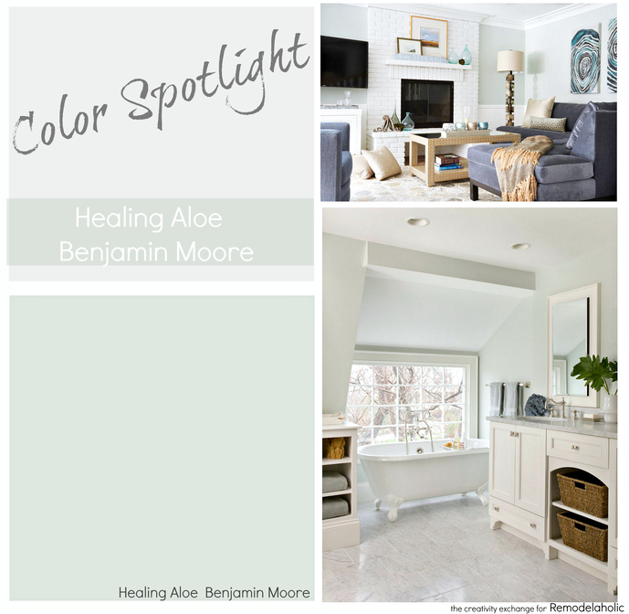 Paint Color Spotlight Healing Aloe From Benjamin Moore A Very Light Gray Green Blue