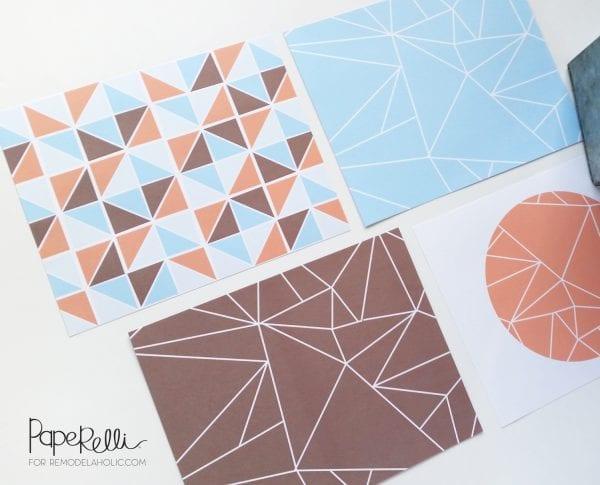 Modern Geometric Art Print  by Paperelli @Remodelaholic