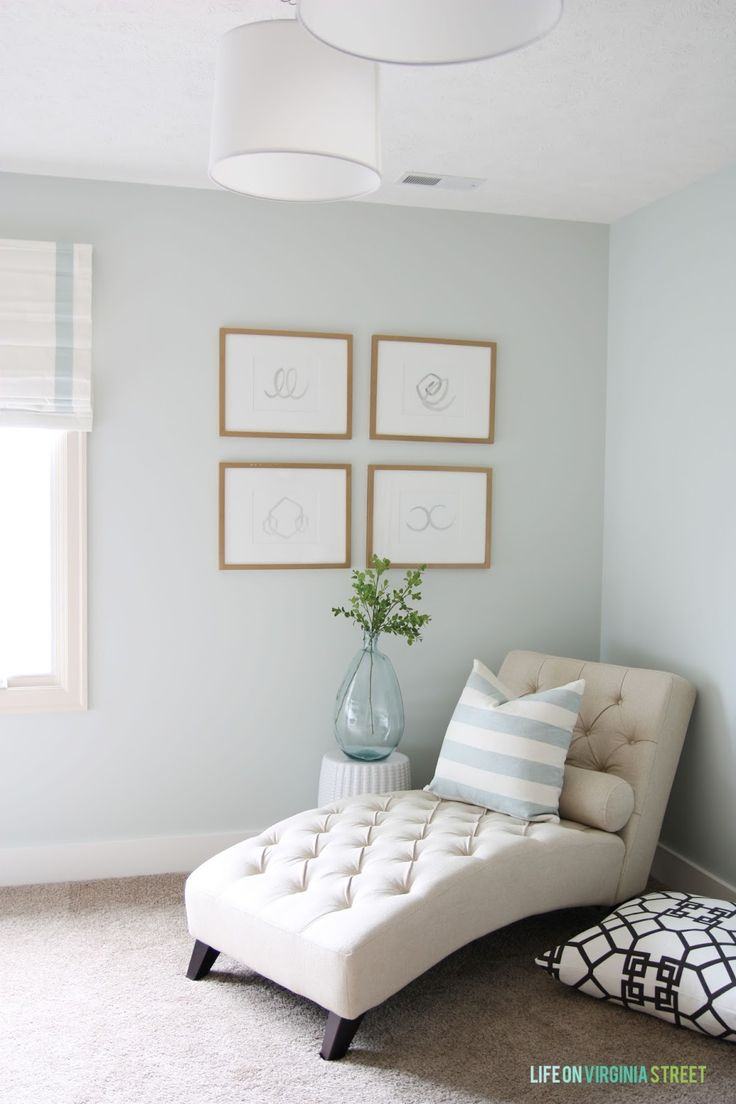 Remodelaholic color spotlight healing aloe from - Benjamin moore paint for living room ...