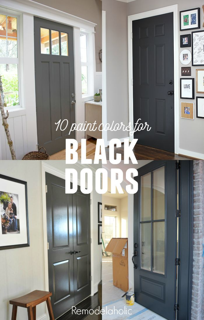 Decorating with black 13 ways to use dark colors in your for Paint for doors interior