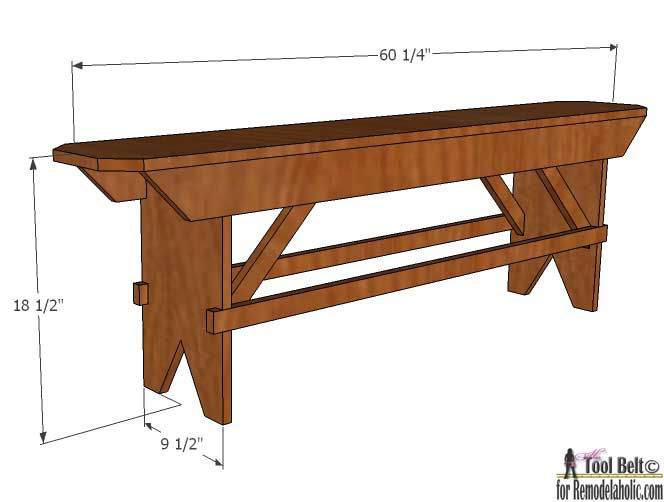 Build A Beautiful DIY Primitive Farmhouse Bench For Your Table Or Extra Seating Free