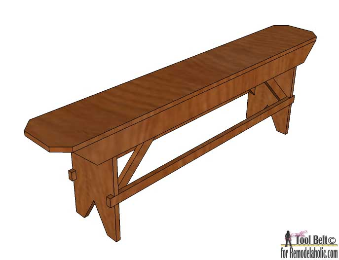 Build A Beautiful DIY Primitive Farmhouse Bench For Your Farmhouse Table Or  Extra Seating. Free