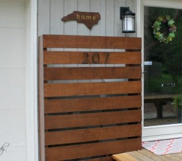 DIY Wood Screen to Hide Utility Boxes