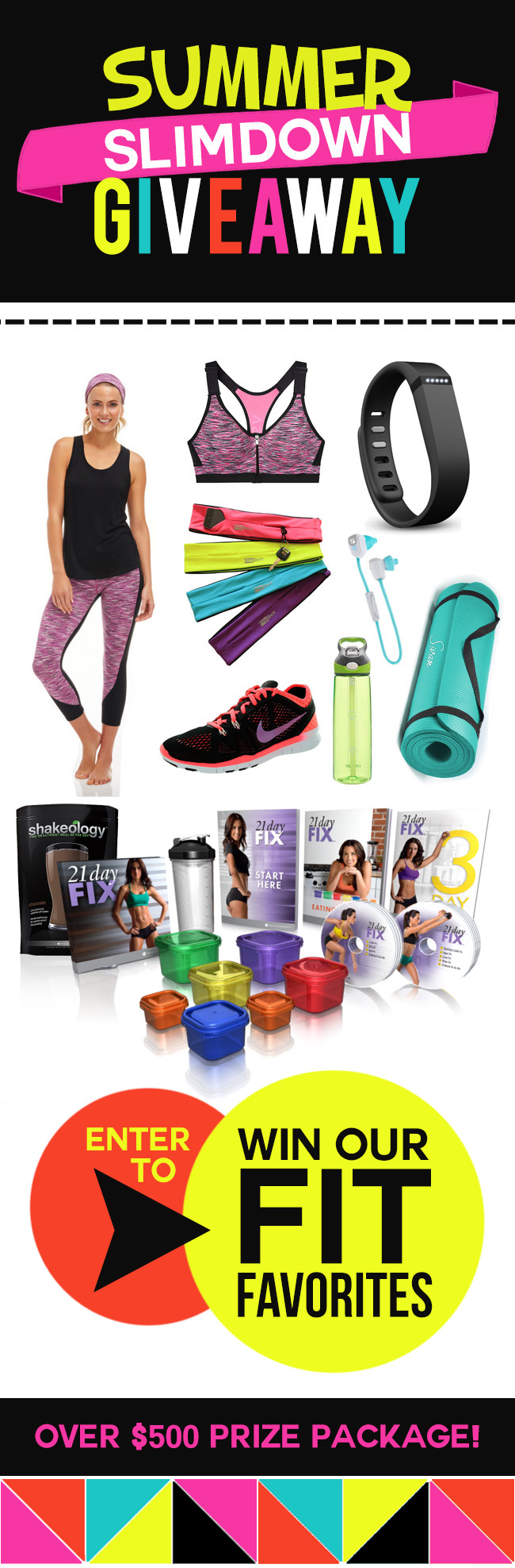 Amazing summer slimdown giveaway -- $500 prize pack!