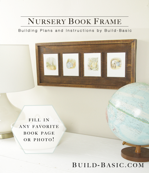 book page frame for prints or cards (Build Basic)