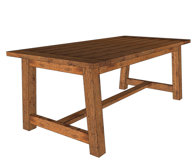 build farmhouse dining table woodworking plans mission modern