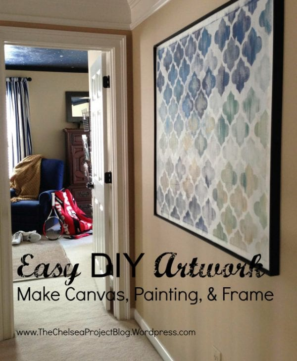 DIY Wall Decor Ideas: build your own canvas for DIY painted art (The Chelsea Project)