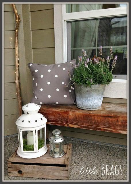 cute painted polka dot porch pillows, Little Brags