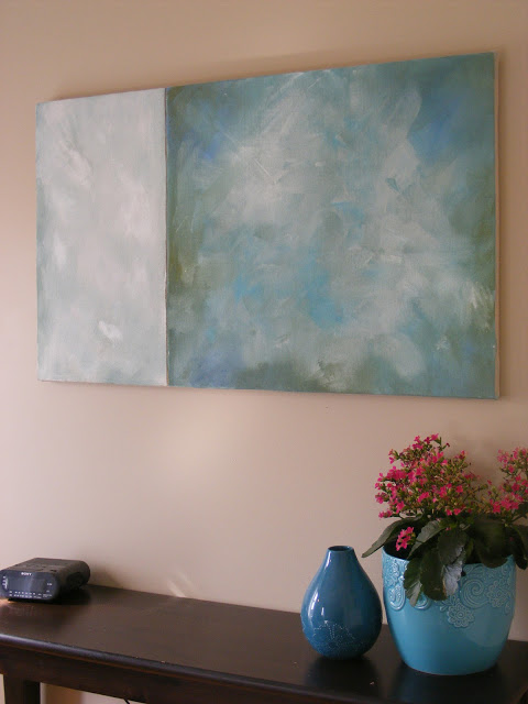 Unique diy canvas and large abstract art Imperfect Homemaking