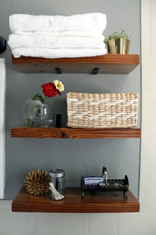 diy faux floating shelves (Turning It Home)