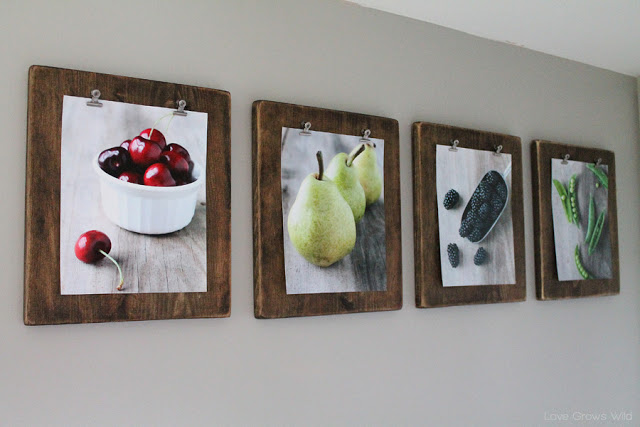 Diy Photo Clipboard Display For Pictures And Art Prints Love Grows Wild