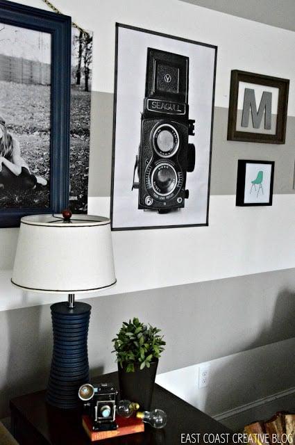 diy photo print framed with washi tape (East Coast Creative)