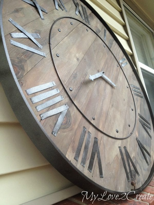diy rustic pottery barn large wall clock (Mylove2create)