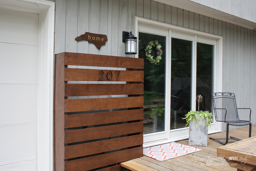 Remodelaholic | DIY Wood Screen to Hide Utility Boxes