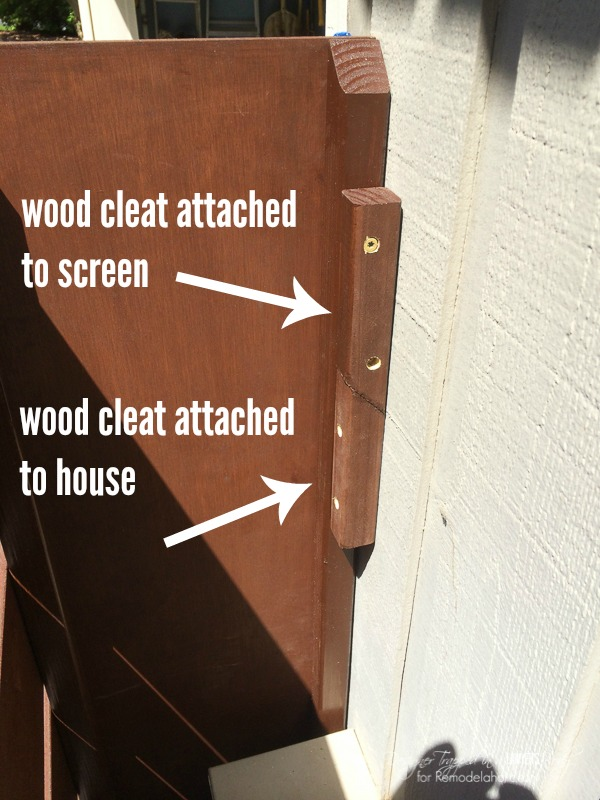how to build and hang a wood screen to hide utility boxes or other exterior eyesores along the side of your home