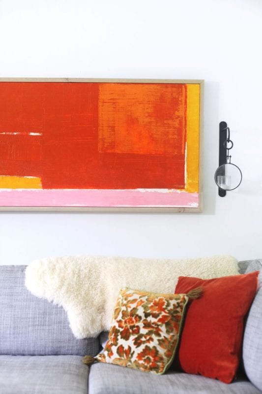 Easy Art Ideas for Kids Room Decor: easy abstract art diy (A Beautiful Mess)