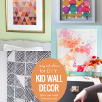 Easy Art Ideas For DIY Kids Wall Decor They Can Make Themselves, Remodelaholic