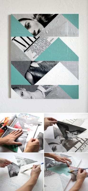 Easy Art Ideas for Kids Room Decor: easy diy abstract photo art (Promise Tangeman Blog)
