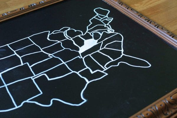 easy diy chalkboard map (Craftivity)