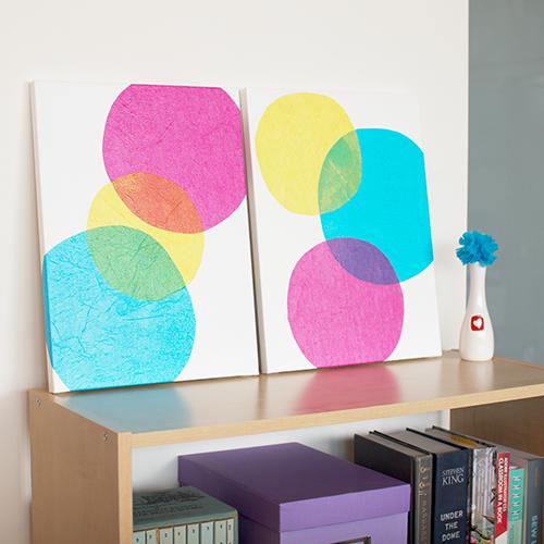 Easy Art Ideas for Kids Room Decor: easy tissue paper art (Mr Handsome Face)