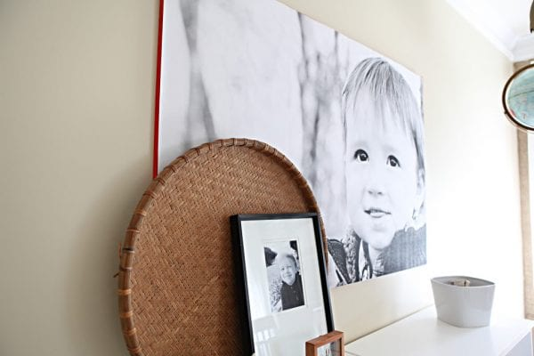 Large Wall Decor DIY: engineer printed photo with contrast color edge (Bower Power Blog)