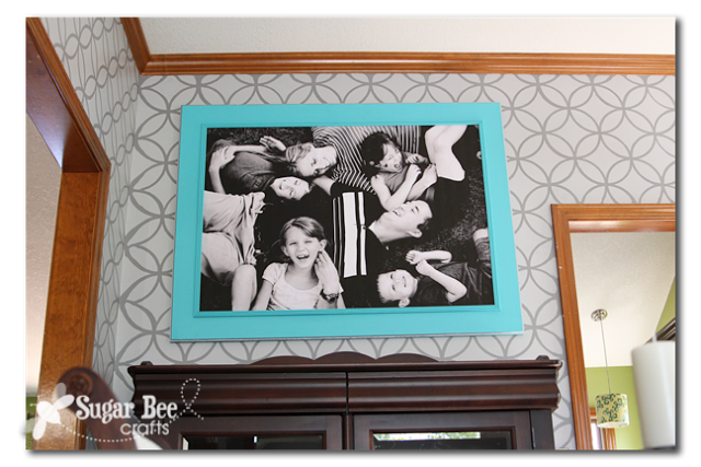 extra large family photo and diy frame sugar bee crafts - Diy Large Picture Frame