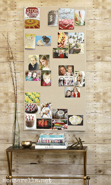 Large DIY Wall Decor Ideas: extra large pinboard from insulation foam sheet (acasarella)