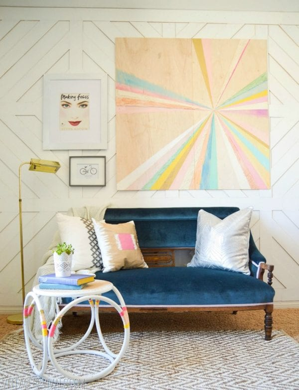 Large Wall Decor Ideas: extra large pinwheel or starburst wall art DIY (Vintage Revivals)