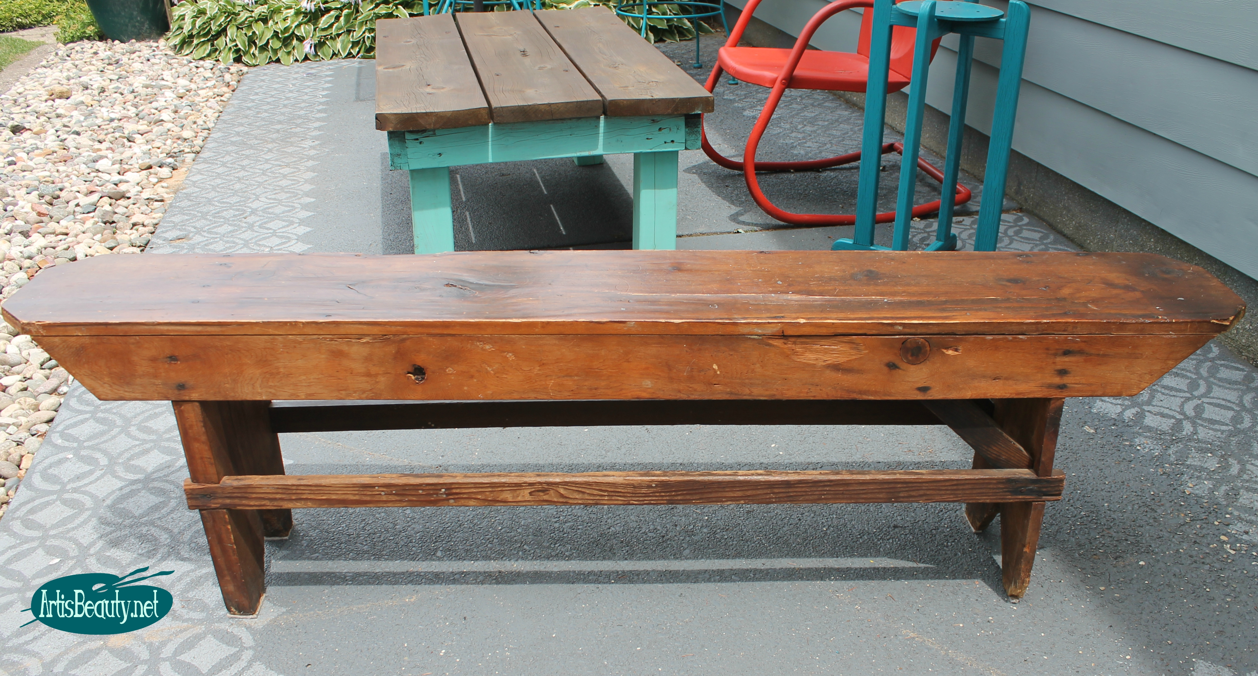 remodelaholic how to build a primitive farmhouse bench