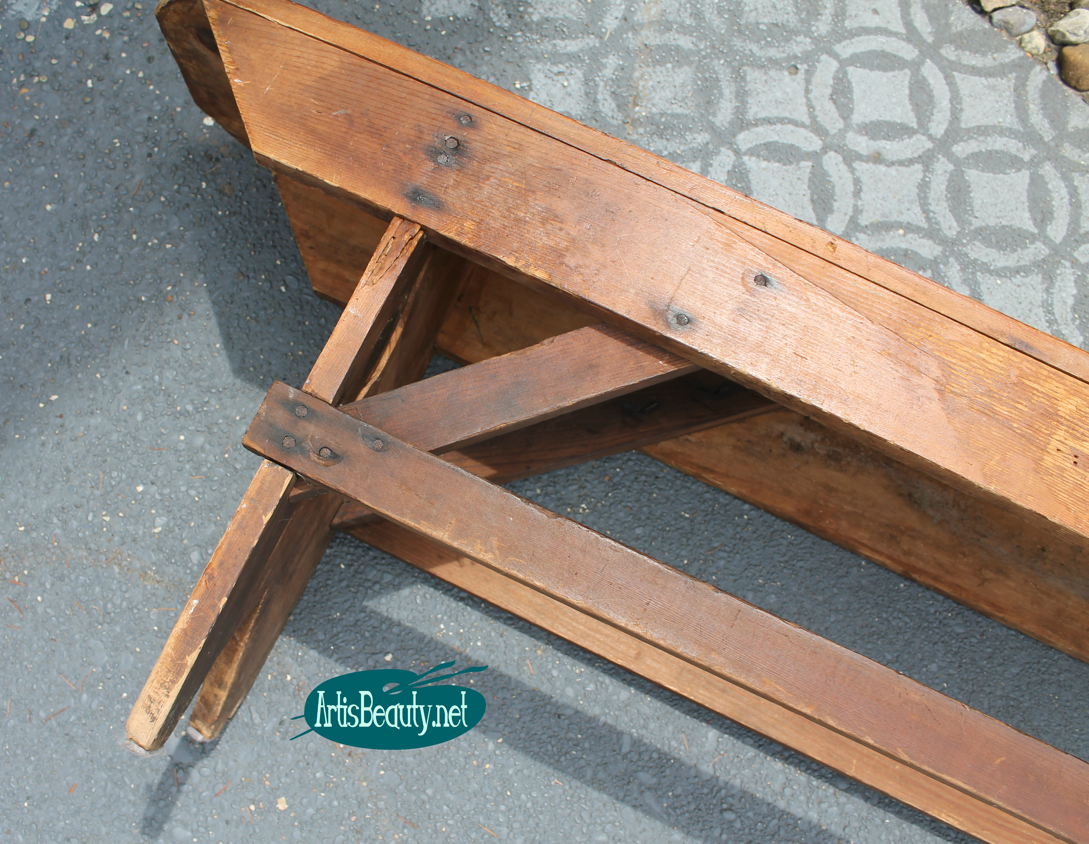 Picture of: Remodelaholic How To Build A Primitive Farmhouse Bench