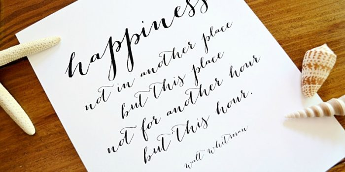 Free Printable: Happiness Quote