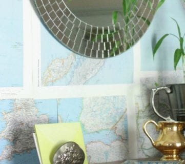 Renter-Friendly DIY Map Wall Treatment