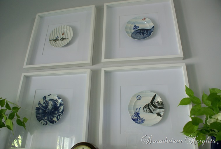 Cool framed plates wall decor Broadview Heights
