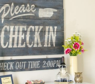 Vintage Hotel Style Aged Wood Sign Tutorial