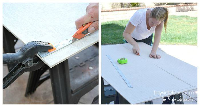 Cutting Cement Board : Remodelaholic how to tile a bathroom floor