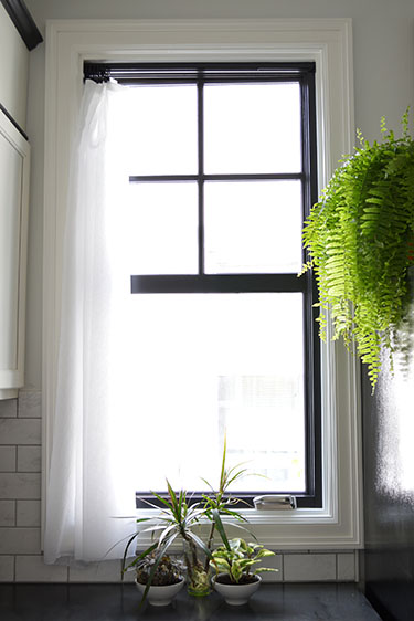 how-to paint black windows (Sarah's Big Idea)