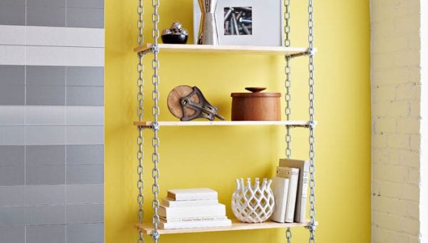 industrial adjustable shelves (Lowe's Creative Ideas)