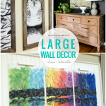 Inexpensive Large DIY Wall Decor Ideas For Large Wall Art, Remodelaholic