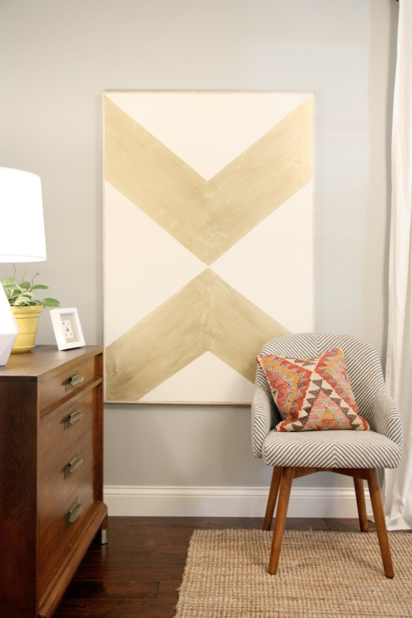large geometric graphic art over an existing painting (House Tweaking)