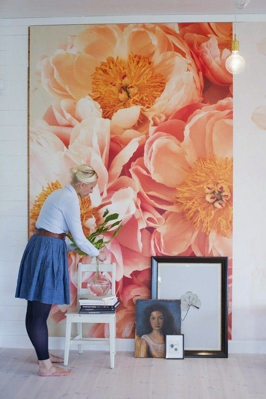 Large DIY Wall Decor: wallpaper art panel (byFryd via Apartment Therapy)