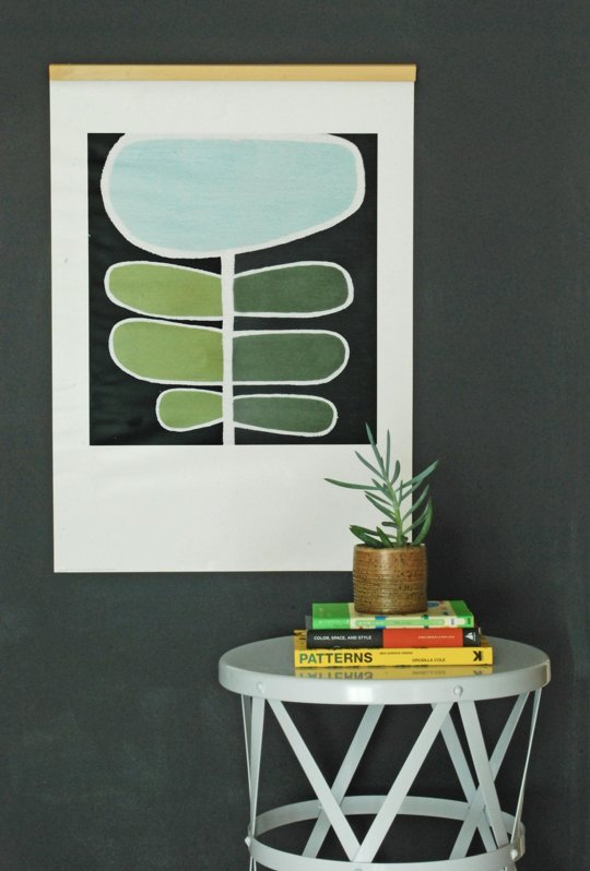 magnetic diy wood frame for hanging art prints or posters or photos (Apartment Therapy)