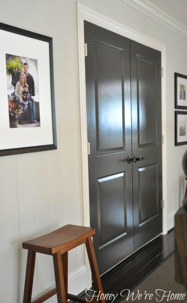 Painted Black Door SW Fox Honey Were Home