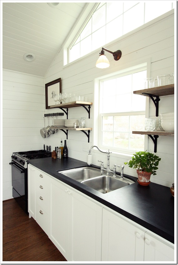 Remodelaholic | Decorating With Black: 13 Ways To Use Dark ... on Black Countertops  id=51174