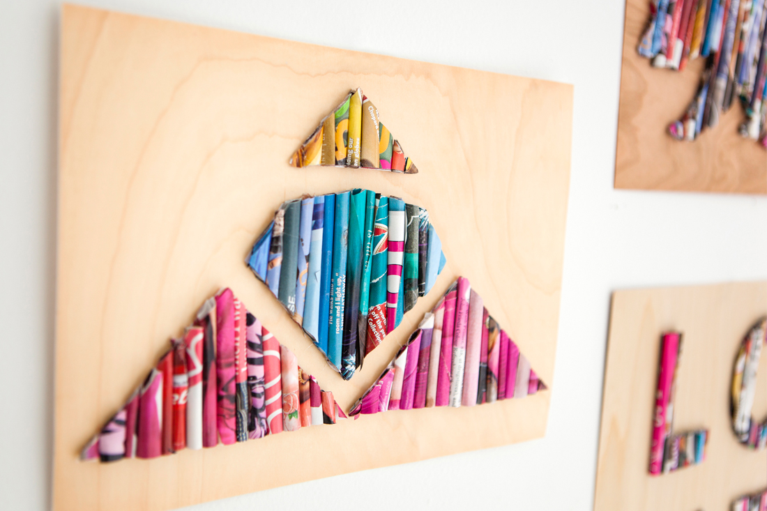 Remodelaholic 60 easy wall art ideas that even kids can make for How to make wall decoration