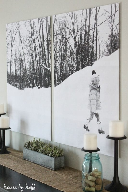 Large DIY Wall Decor: split photo engineer print (House By Hoff)