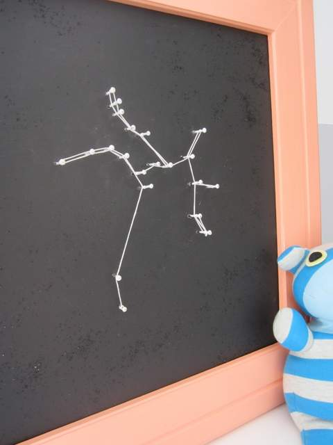 Easy Art Ideas for Kids Room Decor: string art constellation (Decor Adventures via Pretty Handy Girl)