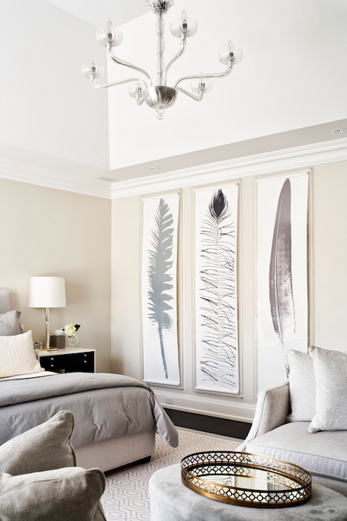 tall feather art, large wall decor (via DecorPad)