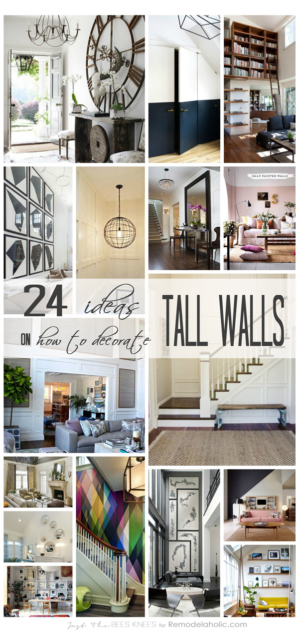Remodelaholic 24 ideas on how to decorate tall walls for Home decorating ideas large wall