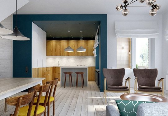 use a dark color to define a space (INT2 Architects via Apartment Therapy)